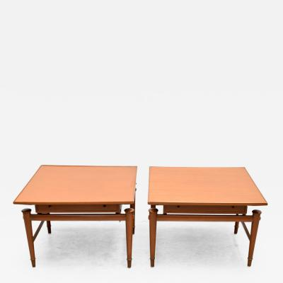 Frank Kyle Pair of Side tables with drawer