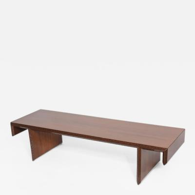 Frank Lloyd Wright American Modern Mahogany Taliesin Group Low Table or Bench Frank Lloyd Wright