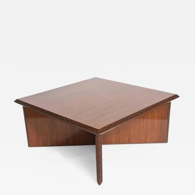 Frank Lloyd Wright American Modern Mahogany Taliesin Low Table Frank Lloyd Wright