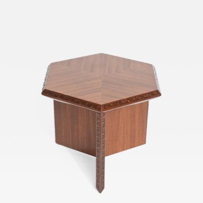 Frank Lloyd Wright American Modern Taliesin Hexagonal Low Table Frank Lloyd Wright