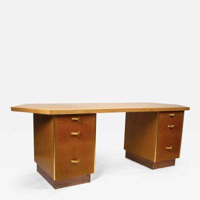 Frank Lloyd Wright Custom Designed Frank Lloyd Wright Double Pedestal Desk for the Price Tower