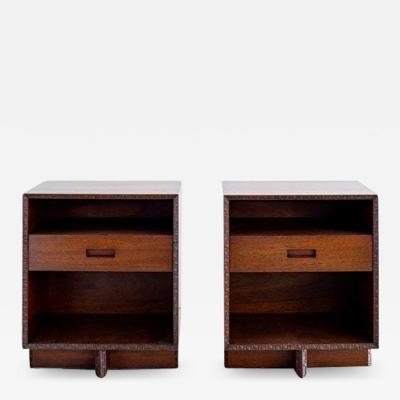 Frank Lloyd Wright FRANK LLOYD WRIGHT FOR HENREDON NIGHTSTANDS