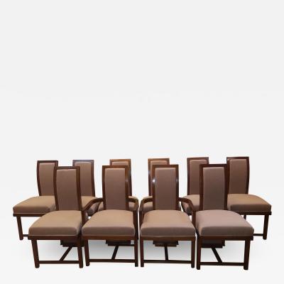 Frank Lloyd Wright Frank Lloyd Wright Dining Chairs Set of Ten Taliesin for Heritage Henredon 1955