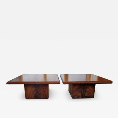 Frank Lloyd Wright Frank Lloyd Wright End Table Heritage Henredon Taliesin Mahogany 1955