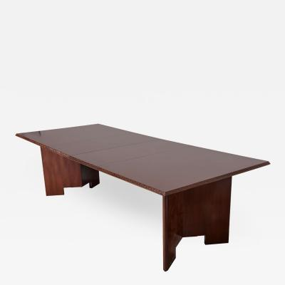 Frank Lloyd Wright Frank Lloyd Wright Mahogany Extension Dining Table