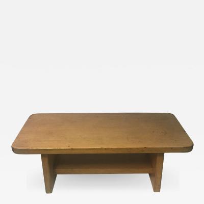 Frank Lloyd Wright MODERN ARCHITECTURAL BLOND WOOD BENCH