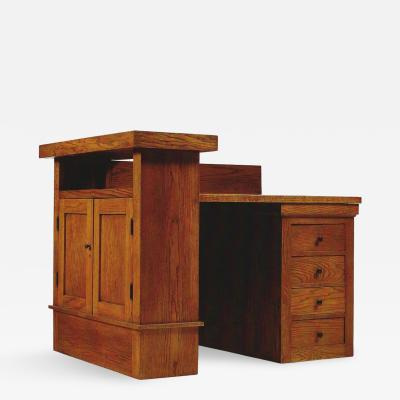 Frank Lloyd Wright Oak Desk By Frank Lloyd Wright For The A W Gridley House