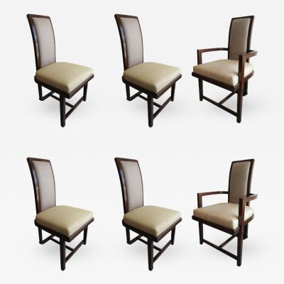 Frank Lloyd Wright Set of 12 Frank Lloyd Wright Taliesin Mahogany Dining Chairs