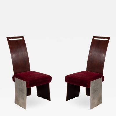 Frank Lloyd Wright Set of 16 American Mahogany Dining Chairs