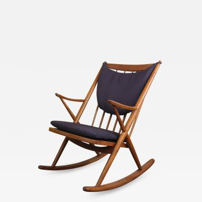 Frank Reenskaug Danish Rocking Chair By Frank Reeskaug for Brahmin Mobler