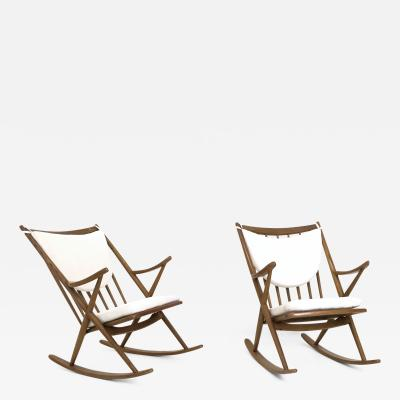 Frank Reenskaug Pair of Rocking Chairs by Frank Reenskaug for Bramin 1950s