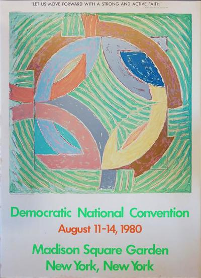 Frank Stella Frank Stella after Democratic National Convention Poster 1980