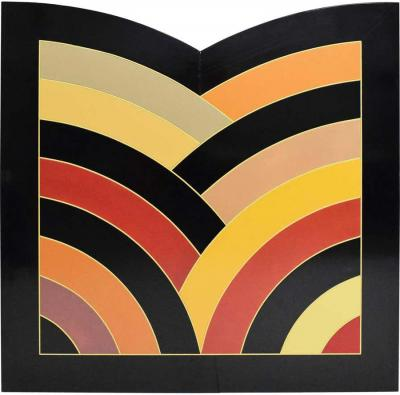 Frank Stella Inspired Large Painting on Board