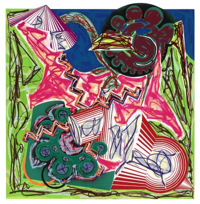 Frank Stella Then Came an Ox and Drank the Water