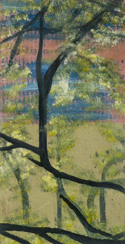 Frank Walter Black Trunk Pink Blue Sky