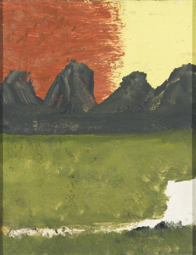 Frank Walter Volcano Red Sky