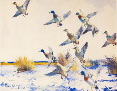 Frank Weston Benson Ducks Rising