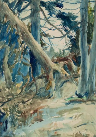 Frank Weston Benson Forest Interior 1922