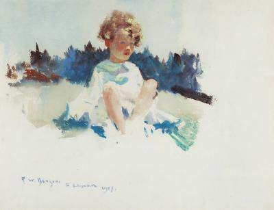 Frank Weston Benson Portrait of Ellie at Three