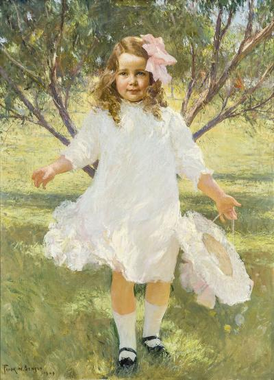 Frank Weston Benson Portrait of a Young Girl Mary Estes Smith