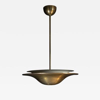 Franta Anyz Bauhaus Brass Chandelier with Indirect Light 1930s