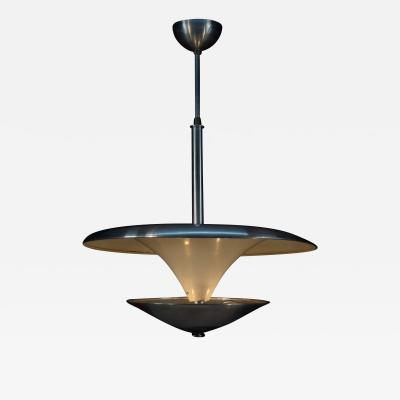Franta Anyz Bauhaus Chandelier with Indirect Light 1930s
