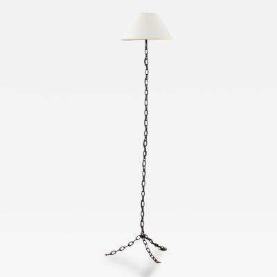 Franz West French iron chain link floor lamp Unknown France 1980s