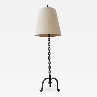 Franz West Mid Century Modern Franz West Style Wrought Iron Chain Floor Lamp 1960s Germany