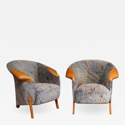 Franz Wittman Pair of Post modern Armchairs by Franz Wittman