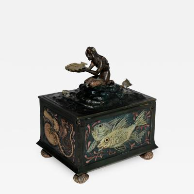 Franz Xaver Bergmann Bergmann Bronze Mermaid Presentation Box