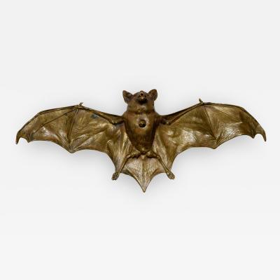 Franz Xaver Bergmann Rare Bronze Bat Bell