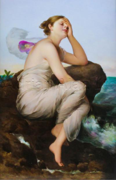 Franz Xaver Thallmaier Psyche A Very Fine German Porcelain Plaque