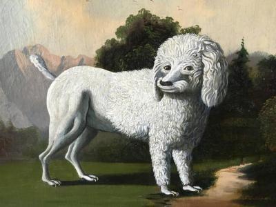 Franz von Lenbach Dog Portrait German School 19th Century