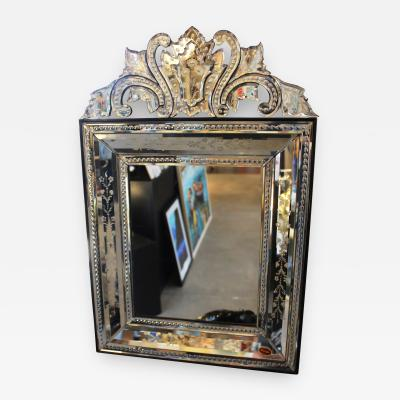 Fratelli Barbini Etched Venetian Mirror