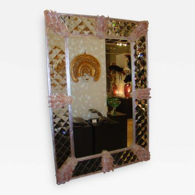 Fratelli Barbini Pink Venetian Mirror
