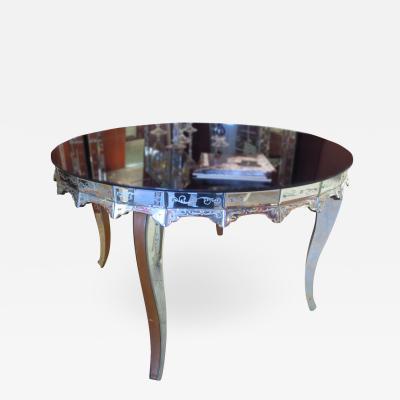 Fratelli Barbini Venetian Mirrored Table Handmade by Fratelli Barbini