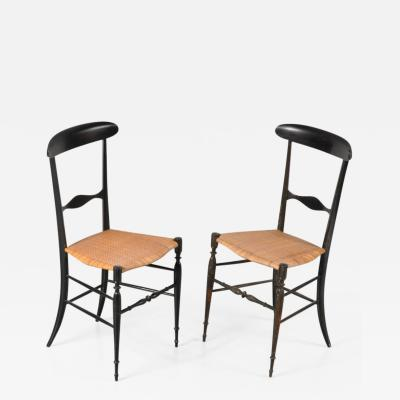 Fratelli Levaggi 1950s Pair of Campanino Classica Chiavari Chairs by Fratelli Levaggi Italy