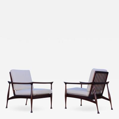 Fratelli Reguitti Fratelli Reguitti Attributed Italian Walnut Lounge Chairs