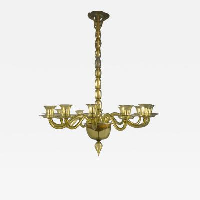 Fratelli Toso Chandelier by Fratelli Toso Italy 1950s