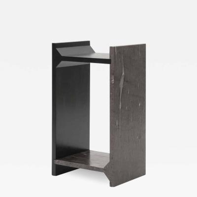 Fre de ric Saulou A SYMMETRY BROWN MARBLE SIDE TABLE BY FREDERIC SAULOU