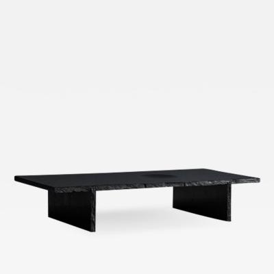 Fre de ric Saulou Black Slate Sculpted Low Table by Frederic Saulou