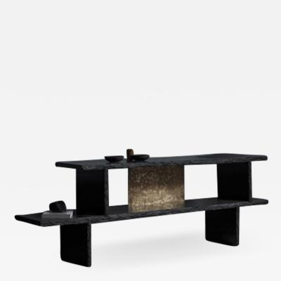 Fre de ric Saulou Brass and Slate Sculpted Buffet by Frederic Saulou