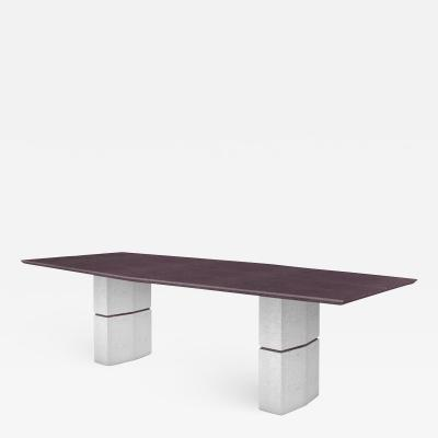 Fre de ric Saulou Fre de ric Saulou Unique Dining Table in Purple Slate
