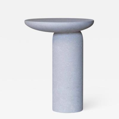 Fre de ric Saulou Grey Decomplexe Stone Side Table Sculpted by Frederic Saulou