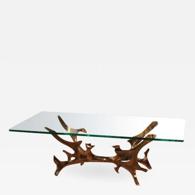 Fred Brouard Bronze Sculpture Cocktail Table