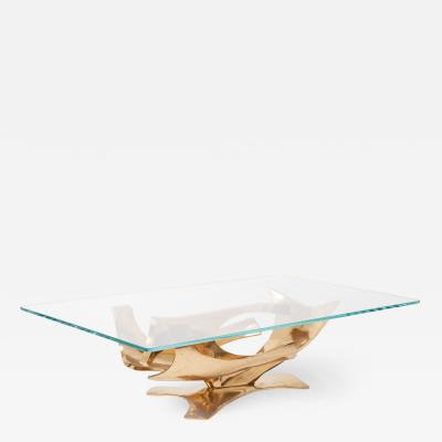 Fred Brouard Sculptural Bronze Coffee Table by Fred Brouard