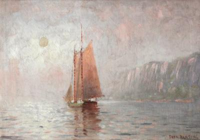 Fred Pansing Misty Morning Schooner Palisades