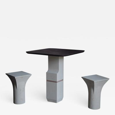 Frederic Saulou Frederic Saulou Ravissant Table and Stools