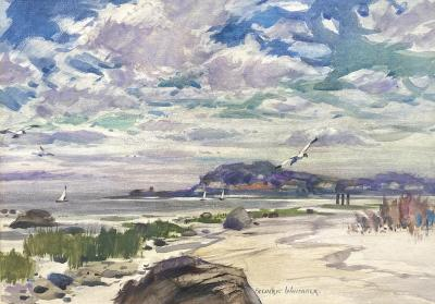 Frederic Whitaker Seashore Clouds