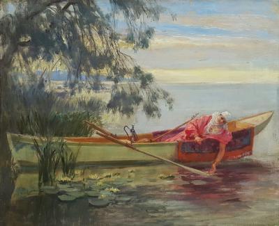 Frederick Arthur Bridgman Sur le Bosphone
